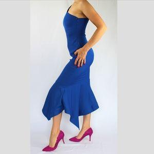 f8f33b36e4b VENUS Dresses | One Shoulder Tulip Dress Blue Nwot | Poshmark